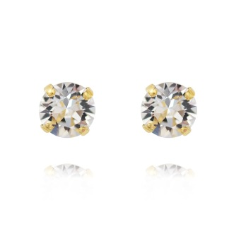 Classic Stud Earrings - Crystal Guld