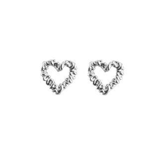 SILVER HEART EARRINGS - SILVER HEART EARRINGS