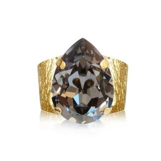 Classic Drop Ring / Black Diamond