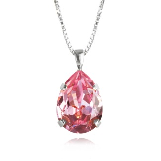 Classic Drop Necklace / Light Rose