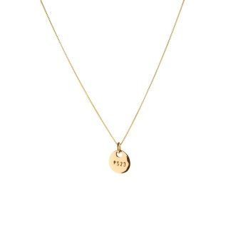 PS23 GOLDEN BRONZE COIN NECKLACE SHORT CHAIN - PS23 GOLDEN BRONZE COIN NECKLACE SHORT CHAIN