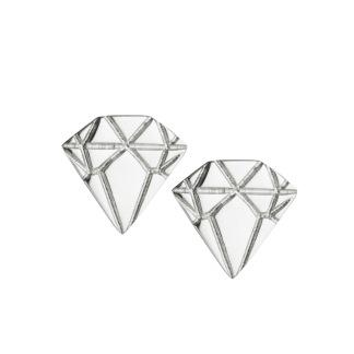 SILVER DIAMOND EARRINGS - SILVER DIAMOND EARRINGS