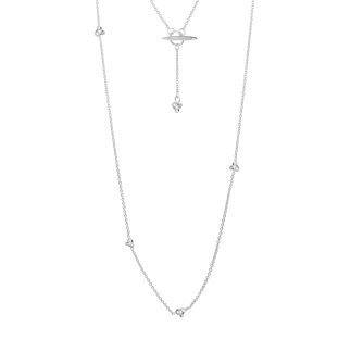 LE KNOT DROP NECKLACE LONG - LE KNOT DROP NECKLACE LONG