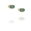 LOVE BEAD EAR - GREEN AGATE - LOVE BEAD EAR - GREEN AGATE