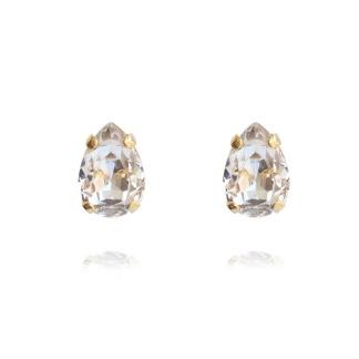 Petite Drop Earrings - Crystal Guld