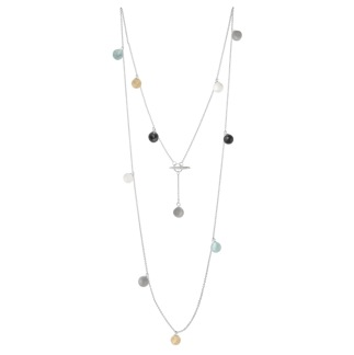 MOON NECKLACE LONG MIXED