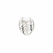 PALM LEAF RING SILVER