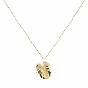 PALM LEAF NECKLACE GOLD