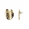 PALM LEAF EARRINGS GOLD L