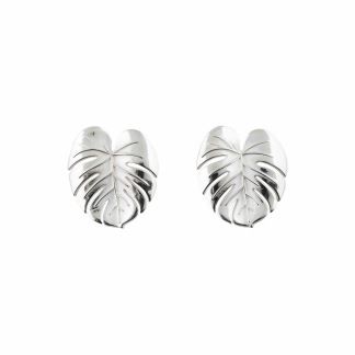 PALM LEAF EARRINGS SILVER