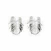 PALM LEAF EARRINGS SILVER L - PALM LEAF EARRINGS SILVER L