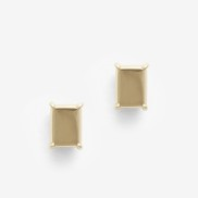 Baguette Earring Gold Plated