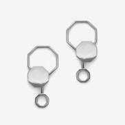 Beehaive Earring Silver Oxy