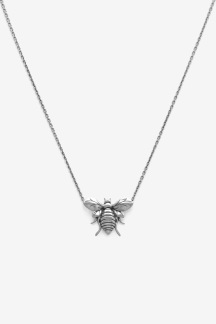 Bee Necklace Silver Oxy - Bee Necklace Gold Plated