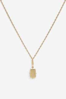 Baguette Necklace Gold Plated