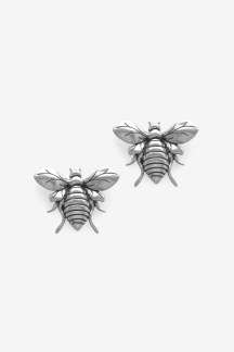 Bee Earring Silver Oxy - Bee Earring Silver Oxy