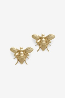 Bee Earring Gold Plated