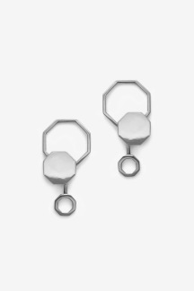 Beehaive Earring Silver Oxy - Beehaive Earring Silver Oxy