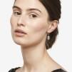 Hook Baguette Earring Silver