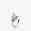 Bee Ring Silver Oxy