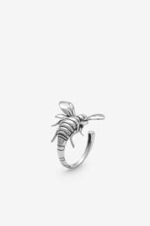 Bee Ring Silver Oxy - Bee Ring Silver Oxy