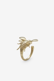 Bee Ring Gold Plated