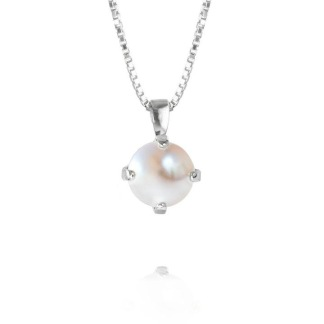 CLASSIC PETITE NECKLACE/PEARL