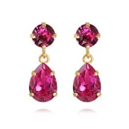 Mini Drop Earrings / Fushia