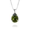Mini Drop Necklace / Olivine