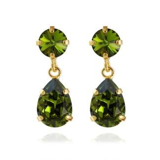 Mini Drop Earrings / Olivine
