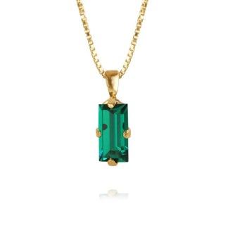Baguette Necklace / Emerald