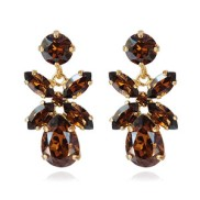 Mini Dione Earrings / Smoked Topaz