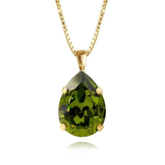 Classic Drop Necklace / Olivine
