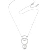 Twisted orbit necklace - pearl - Twisted orbit necklace - pearl