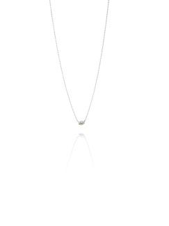 Love bead necklace silver - green quartz
