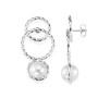 Twisted orbit earrings - pearl - Twisted orbit earrings - pearl