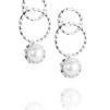 Twisted orbit earrings - pearl