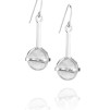 Amor fati globe earrings - crystal quart