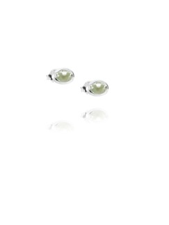 LOVE BEAD EAR SILVER - GREEN QUARTZ - LOVE BEAD EAR SILVER - GREEN QUARTZ