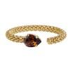 Classic Rope Bracelet - Smoked topaz Gold
