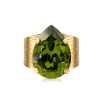 Classic Drop Ring - Olivine gold