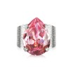 Classic Drop Ring - Light rose rhodium