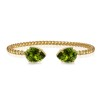 Mini Drop Bracelet - Olivine Guld