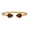 Mini Drop Bracelet - Smoked Topaz Guld