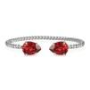 Mini Drop Bracelet - Scarlet Silver
