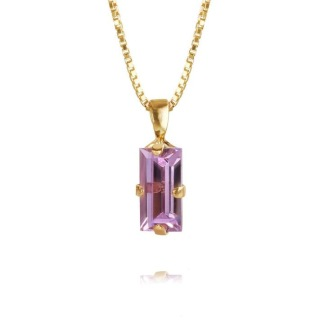 Baguette Necklace - Violet gold