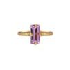 Baguette Ring - Baguette Ring /violet Gold