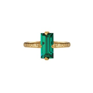 Baguette Ring - Emerald Gold