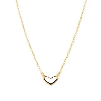 LOVING HEART MEDIUM SINGLE NECKLACE GOLD - LOVING HEART MEDIUM SINGLE NECKLACE GOLD