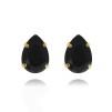 Mini Drop Stud Earrings - Jet Guld